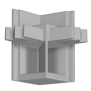 Угловой соединитель для рельса Newly R20